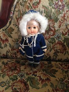 """Vintage Vogue 8"""" Poseable Doll Blue Velvet Parka Outfit Ginny New Out Of Box"""