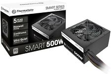 Thermaltake Smart 500W 80+ White Certified PSU, Continuous Power with 120mm Ultr