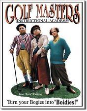 THE THREE 3 STOOGES Golf Masters Retro Metal Tin Sign MADE in the USA