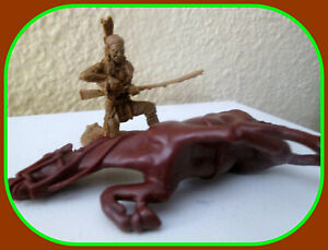 Barzso Replicants mini-diorama-Indian Brave w downed horse Goes w Marx 54mm 1:32