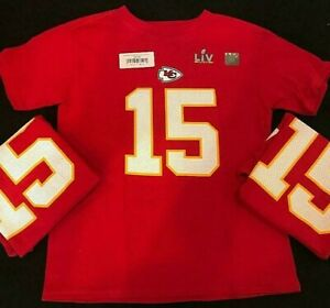Kansas City Chiefs #15 Mahomes Boys Tees Shirt by Nike Size M Age 5-6
