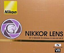 Nikon Nikkor AF-S 70-200mm f/2.8g ed VR II - 12 meses de garantía