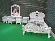 Piccole dimensioni doppie o doppio bianco designer francese stile ROCOCO letto di qualità superiore