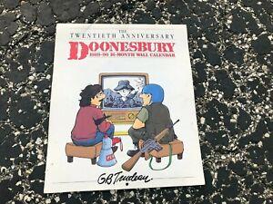 1989 vintage Wall Calendar – Doonesbury - 20th Anniversary