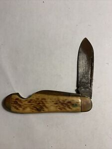 Antique Pal Cutlery Co U.S.A. Stag Handle Pocket Knife