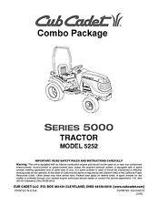 Cub Cadet  Model No. 5252 Lawn Tractor Manuals COMBO Package