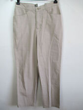 LEE RIDERS womens pants 6 SMALL plaid beige EASED trouser 100% COTTON windowpane