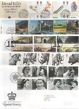 GB 2006 Set 11 Commemorative FDC's Philatelic Bureau Edinburgh postmark stamps