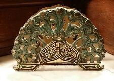 Vtg 1960s Israel Jerusalem Jewish Brass Abstract Tree of Life Napkin Mail Holder
