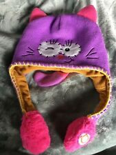 Flipeez Winter Hat~Kitty Cat~Squeeze tassel & Tail goes up! One Size~Kids