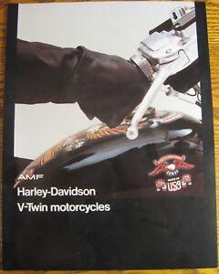 1976 Harley Davidson Motorcycles Sales Brochure Electra Super Glide Sportster