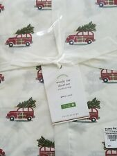 Pottery Barn Woody Sheet Set Queen 4pc Christmas Holiday 100% cotton Percale