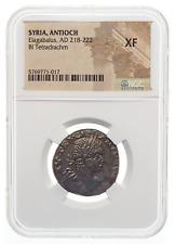 ANTIOCH. Elagabalus, AD 218-222. Billon Tetradrachm, NGC XF