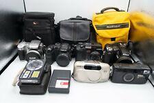 7 Camera Lot Bundle Digital and Film Sony Nikon Olympus Fujifilm Kodak Minolta