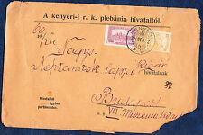 HUNGARY 1924 1600K INFLATION-ERA COVER KENYERI