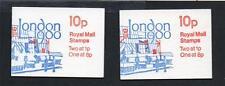 GB 1979-80 FA10-FA11 10p LONDON 1980 BOOKLETS
