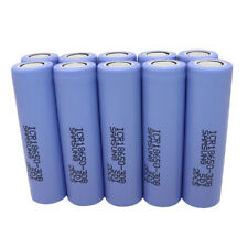 10X ICR 18650 3000mAh 3.7V Li-ion Batería Recargable High Drain Battery -Vape