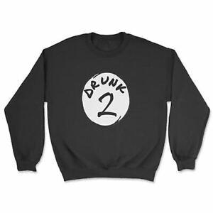 Drunk 1 and 2 - Sweatshirt - Dr Cat Seuss Hat Funny Joke Thing 1 Thing 2