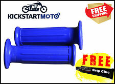 For Yamaha PW50 Blue Hand Grips Rubber Grip Pee Wee 50 Free Post