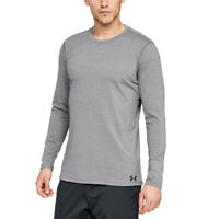 Under Armour Mens ColdGear Fitted Crew Top Grey Sports Gym Running