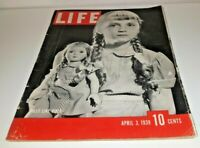April 3, 1939 LIFE Magazine Lindbergh 30s advertising ads ad FREE SHIPPING 4 5 6
