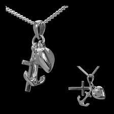 Halskette mit Anhänger Liebe Glaube Hoffnung 925 Silber Kette Anker Kinder Damen