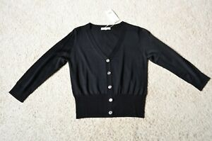 Vince Silk Knit Cardigan Size S/P Black