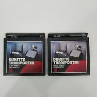 ACCO Diskette Transporter Black Set of 2 Vintage Computer