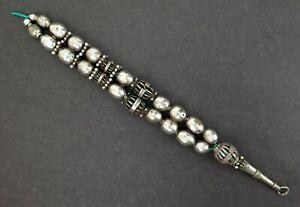 North African / Yemen/ Bedouin coin-silver (part prayer bead ?) necklace