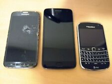 Lot of 3 Smartphone~Samsung Galaxy S4 Active 16Gb (At&T) Moto 5 Blackberry Bold