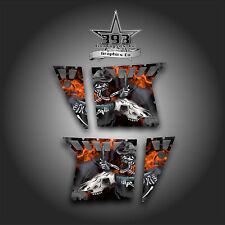 Pro Armor Door Graphics Kit Polaris RZR XP 900 RZR S 800 07-14 Skull Ride Orange