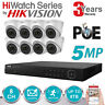 HIKVISION 6MP IP POE NVR 8CH CCTV DOME TURRET CAMERA 5MP HD INDOOR OUTDOOR KIT