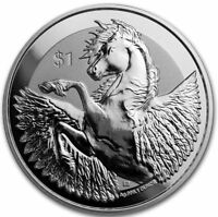 2018 BVI 1 oz Silver Pegasus Reverse Frosted Proof-like BU   Mint sealed coin