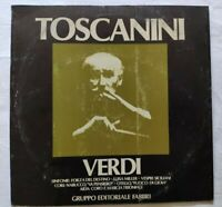 GIUSEPPE VERDI SINFONIE LP ARTURO TOSCANINI 33 GIRI VINYL ITALY 1980 NM/NM