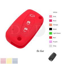 Silicone Cover Holder fit for FIAT Panda Punto Idea Bravo Flip Key 3 Button RD
