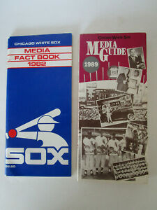 Chicago White Sox Baseball Media Guide 1989 Fact Book 1982 Player History Lot 2