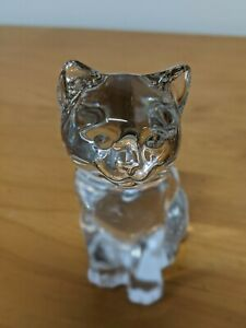 Princess House #811 Seated Kitten. Made in Germany Crystal Figurine PAPERWEIGHT