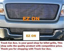 For FORD F150 2006 2007 2008 2PC Polish Grille OVERLAY Combo Top w/o Logo+Bumper