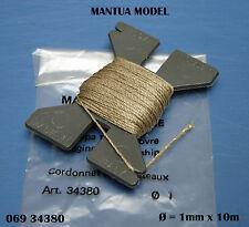 Mantua 06934380-Fil de gréement écru Ø 1mm x 10M  Artésania Latina/BillingBoat