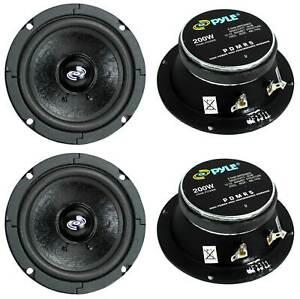 "4) Pyle Pro PDMR5 5"" 800W Car DJ/Home Mid Bass MidRange Speakers Drivers Audio"