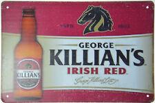 "Killian's Irish Red Beer Ale Lager Bottle Tin Metal Sign Retro Plaque 12x8"" NEW"