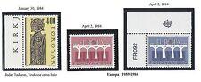 "FAROE ISLANDS  #102-105; 106-107 MNH (2 SETS) - 1984 -  ""COAT OF ARMS;  EUROPA"""
