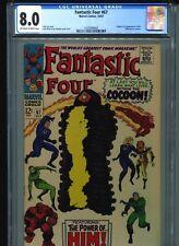 Fantastic Four #67 CGC 8.0 (1967) Origin & First 1st Him (Warlock) in Cameo