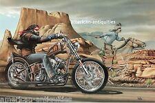 Dave David Mann Biker Art Motorcycle Poster Print Easyriders Ghost Rider Sturgis