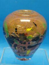 "FABULOUS SIGNED JEAN CLAUDE NOVARO  STUDIO ART HAND BLOWN GLASS VASE ~ 5.5"" H"