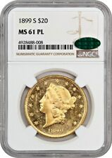 1899-S $20 NGC/CAC MS61 PL - Pretty Mirrors! - Liberty Double Eagle - Gold Coin