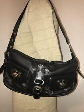 Women's Tosca Blu Designer Black Leather Shoulder Bag