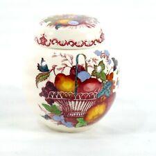 VTG Mason's Ironstone China England Fruit Basket Colorful Lidded Ginger Jar