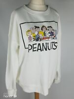 Peanuts Snoopy with Friends Ivory Of White Sweatshirt Jumper Size L 16 18