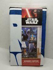 "STAR WARS SHOWER CURTAIN * FABRIC 72"" x 72"" * Darth Vader * Skywalker * R2D2"